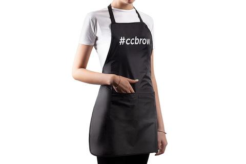 Фартук CC BROW, длина 60 СМ, черный, нейлон