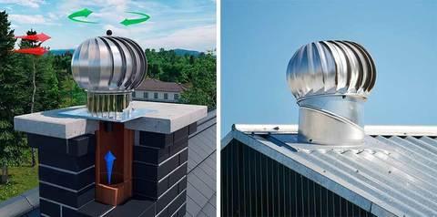 Турбодефлектор крышный ERA ТД-100н ТД 100мм dØ100 нержавеющая сталь