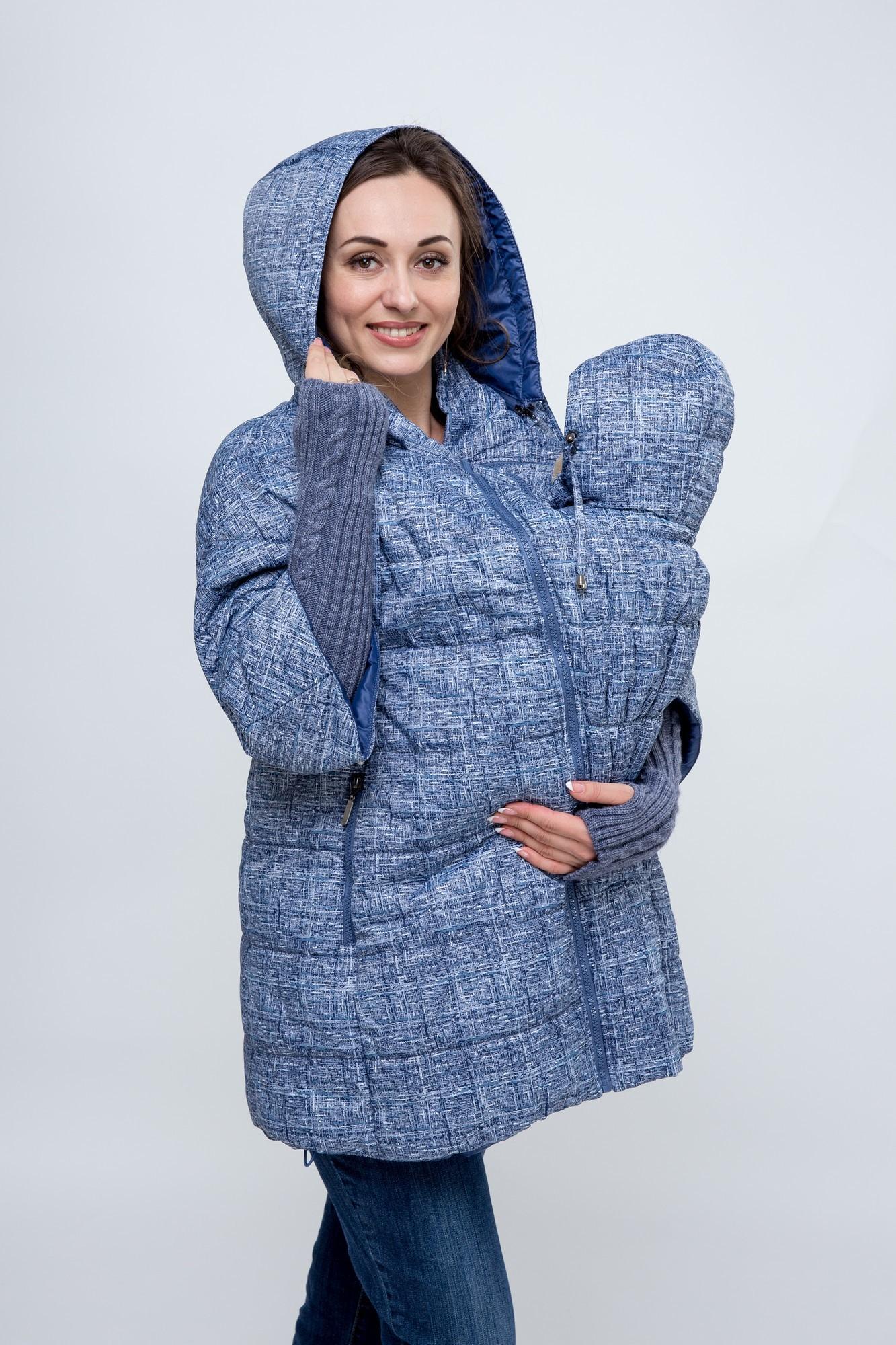 Слингокуртка для беременных 08419 синий