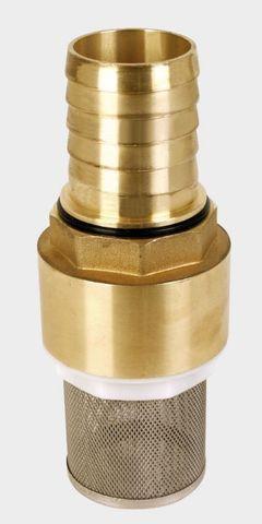 Комплект обратный клапан, сетка и штуцер из латуни Zubehoer Fussventil Messing 1 1/2