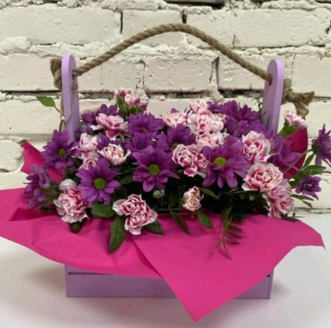 Композиция живые цветы №13