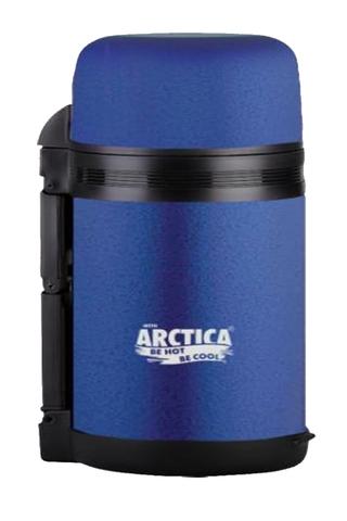 Термос универсальный (для еды и напитков) Арктика (0,8 литра) с широким горлом, синий матовый