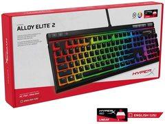 Klaviatura \ Клавиатура \ Keyboard  Gaming Keyboard HyperX Alloy Elite 2 Mechanical Red