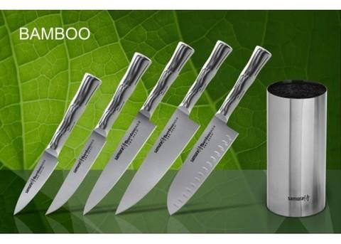 Набор из 5-ти кухонных ножей с подставкой Samura BAMBOO арт. SKB-06M