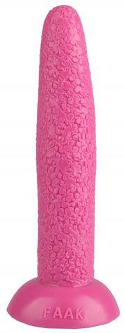 Розовый гладкий анальный стимулятор - 23 см.