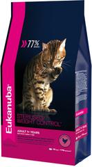 Корм для взрослых кошек, Eukanuba Cat ADULT STERILIZED WC, с избыточным весом и стерилизованных