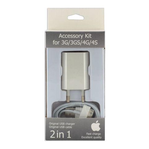 Комплект СЗУ iPhone 4 (2 в 1)