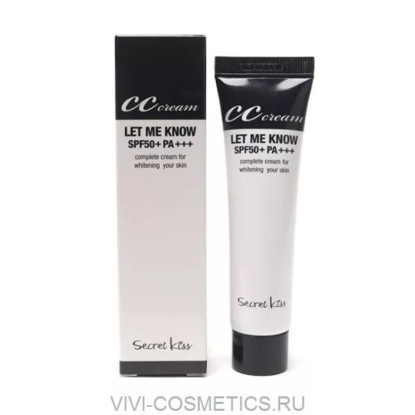 CС крем для сухой кожи | SECRET KEY LET ME KNOW CC CREAM SPF50 (30ml)