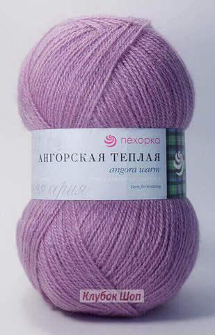 Ангорская теплая 29 Розовая сирень (Пехорская пряжа)