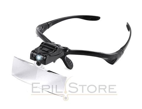 Очки-лупа косметолога с LED-подсветкой