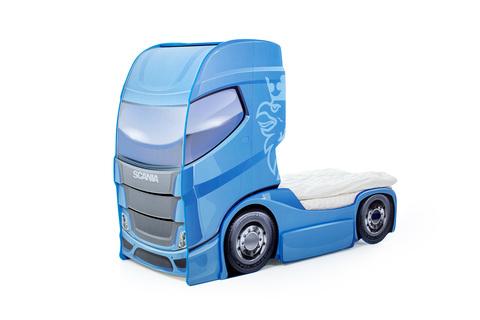 """Кровать-грузовик """"Скания+1"""" синий"""