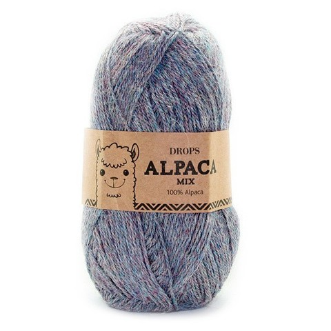 Пряжа Drops Alpaca 8120 серое небо