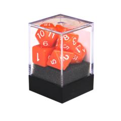 Набор разногранных оранжевых кубиков