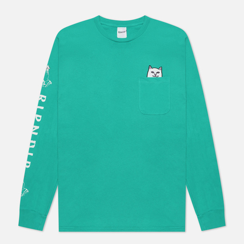 Лонгслив Ripndip Lord Nermal Pocket Tee Long Sleeve Teal