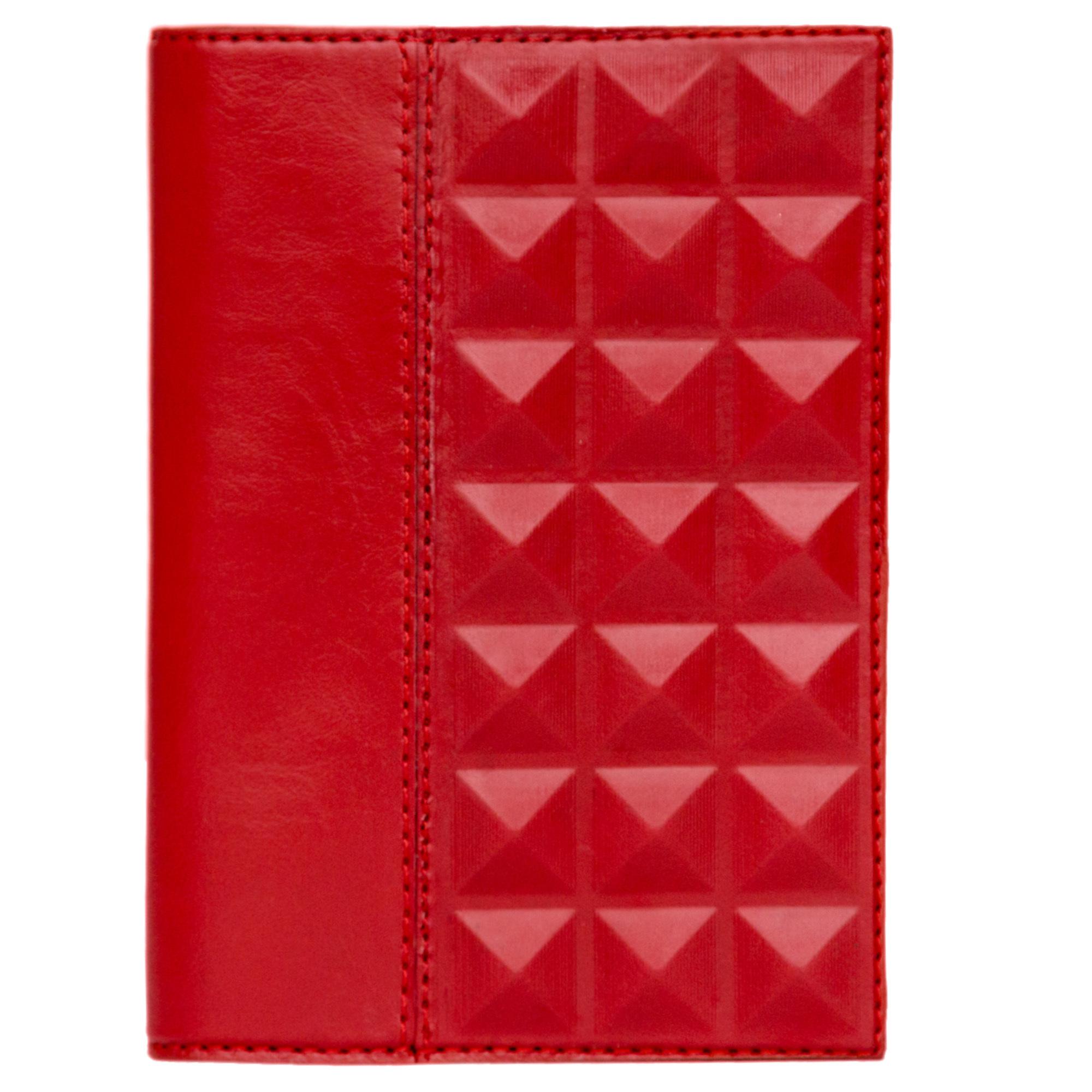 Обложка для автодокументов   Геометрия   Красный
