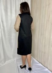 Сієра. Красива повсякденна жіноча замшева сукня. Бежевий