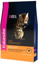 Корм для взрослых кошек, Eukanuba Cat ADULT TOP CONDITION, с домашней птицей