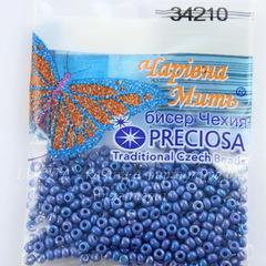 34210 Бисер 10/0 Preciosa Керамика радужный синий