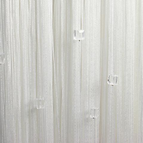 Кисея с кубиками Белая. Ш-300см., В-280см. Арт.1