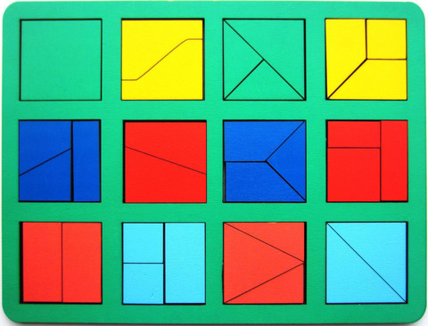 Сложи квадрат Б.П.Никитин, 1 уровень (макси), Smile-Decor