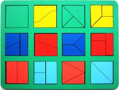 Сложи квадрат Никитина 1 уровень