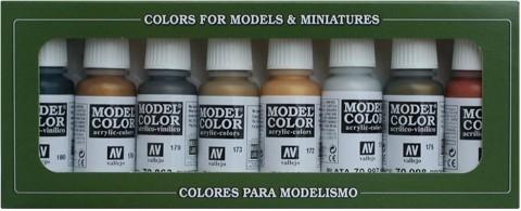 Model Color Metallic Colors (8) 17 ml.