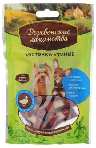 ДЕРЕВЕНСКИЕ ЛАКОМСТВА для мини-пород Косточки утиные 55 гр