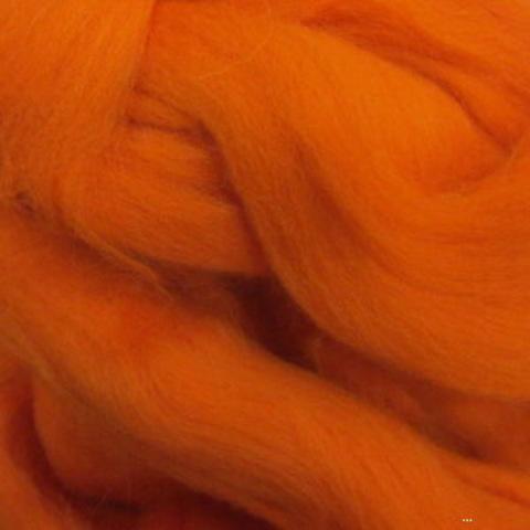 Шерсть для валяния Полутонкая (Троицкая) 1623 Оранжевый