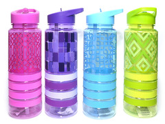 Бутылка для воды. Метариал: пластик, силикон. Объём 700ML. 63108