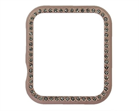 Чехол Watch 2/3 series 38 мм Crystal metal | розовое золото
