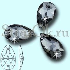 Стразы пришивные стеклянные Drope Black Diamond