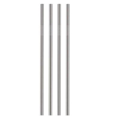Трубочка многоразовая металлическая, прямая