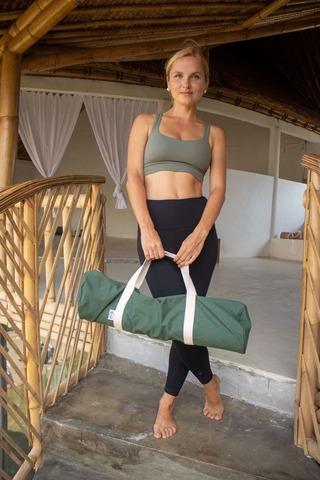 Хлопковая сумка для йога коврика YC_2