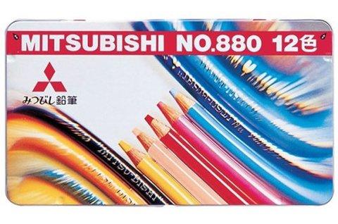 Цветные карандаши Mitsubishi №880 (12 шт.)