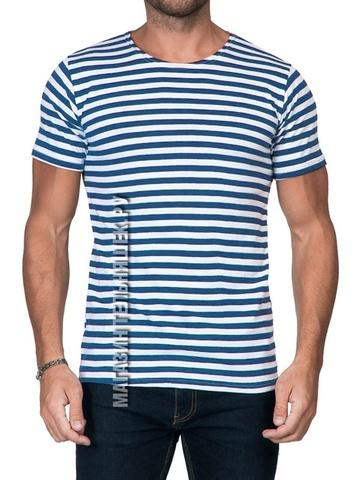 Купить футболку-тельняшку ВДВ - Магазин тельняшек.ру 8-800-700-93-18Футболка-тельняшка прямая (голубая полоса) в Магазине тельняшек