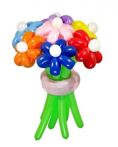 Ромашки из воздушных шаров ассорти