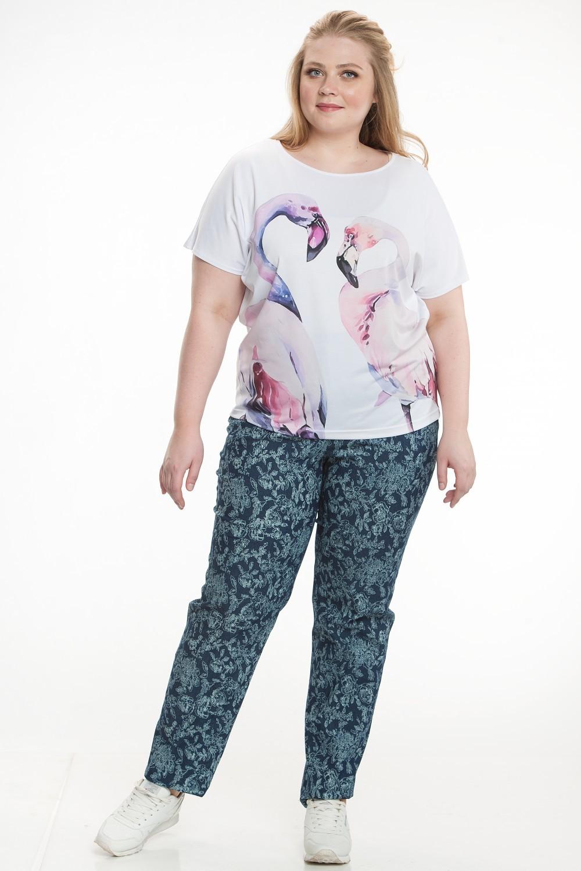 "7725 Блуза ""Фламинго"""