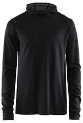 Рубашка беговая Craft Core Fuseknit Black с капюшоном мужская