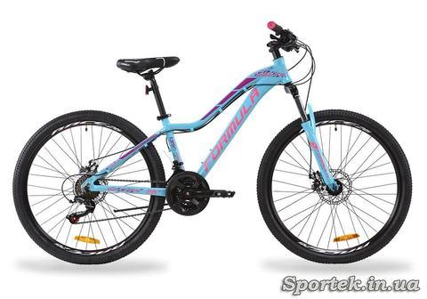 Горный женский алюминиевый велосипед Formula Mystique 1.0 AL AM DD 2020 - перламутрово-голубой с розовым