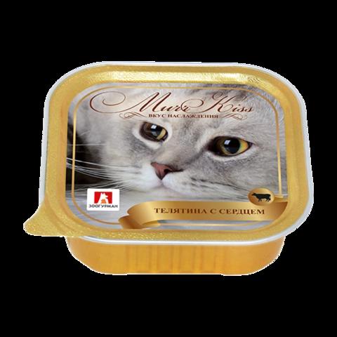 Зоогурман Murr Kiss Консервы для кошек с телятиной и сердцем (Ламистер)