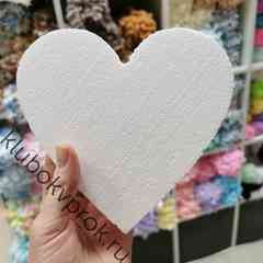Сердце пенопластовое, заготовка, 14см*15см*2см