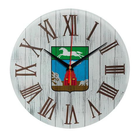 Печать под стеклом Деревянные настенные часы Барнаул 07