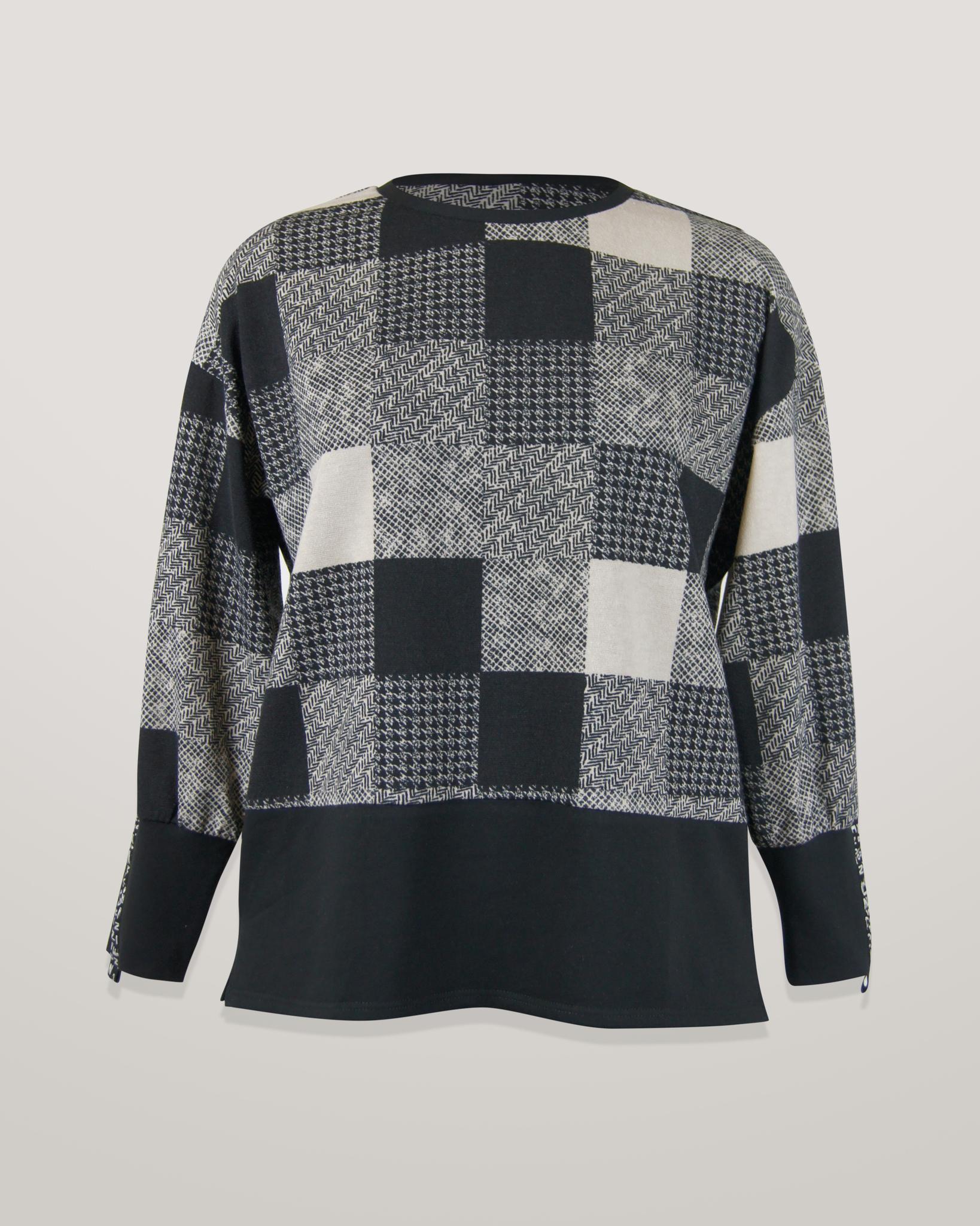 Блузка Elite 9043 квадраты 3/4