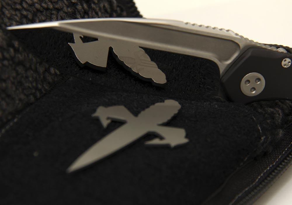 Нож Marfione Custom Anax Integral Frame Lock Knife Black Aluminum - фотография