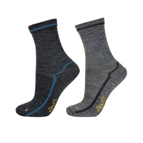 Детские шерстяные носки Janus цвет мосркая волна, серый
