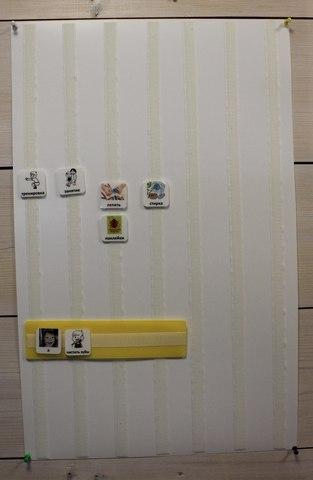 Коммуникативная настенная панель для карточек