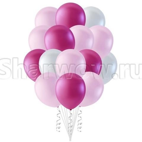 Облако воздушных гелиевых шаров Оттенки розового