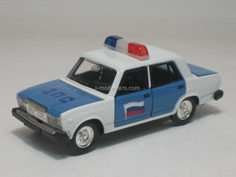 VAZ-2107 Lada DPS Police Agat Mossar Tantal 1:43