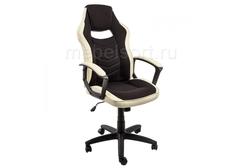 Компьютерное кресло Геймер (Gamer) черное / бежевое