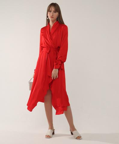 Платье Freja красного цвета